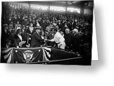 President Herbert Hoover And Baseball Great Walter Johnson 1931 Greeting Card