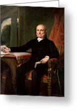 President John Quincy Adams  Greeting Card by War Is Hell Store