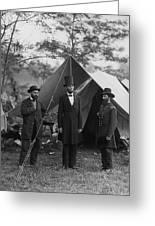President Lincoln At Antietam Greeting Card