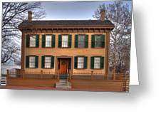 President Lincoln Home Springfield Illinois Greeting Card