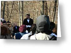 President Lincoln Speaks Greeting Card