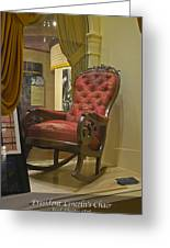 President Lincoln's Chair Greeting Card