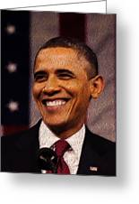 President Obama Greeting Card by Mim White