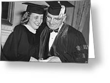 President Truman And Daughter Greeting Card