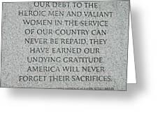 President Truman's Dedication To World War Two Vets Greeting Card