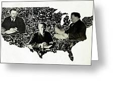 Presidential Map, C1912 Greeting Card