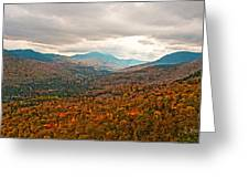 Presidential Range In Autumn Watercolor Greeting Card