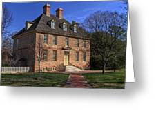 President's House College Of William And Mary Greeting Card