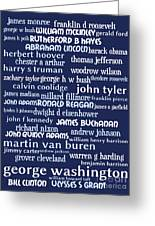 Presidents Of The United States 20130625bwco80 Greeting Card