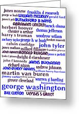 Presidents Of The United States 20130625whi Greeting Card