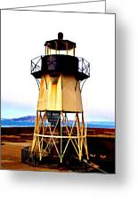Presidio Lighthouse Greeting Card by Sharon Costa