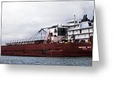 Presque Isle Freighter Greeting Card