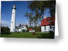 Presque Isle Mi Lighthouse 4 Greeting Card
