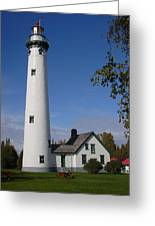 Presque Isle Mi Lighthouse 5 Greeting Card