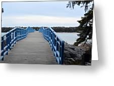 Presque Isle Pier Greeting Card