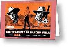 Pressbook The Treasure Of Pancho Villa 1955 Greeting Card