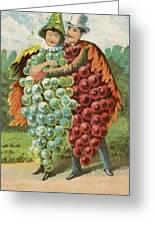 Pressed Grapes Greeting Card