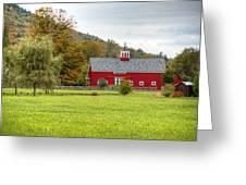 Prettiest Barn In Vermont Greeting Card