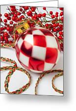 Pretty Christmas Ornament Greeting Card