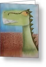 Dinoart Raptor Greeting Card