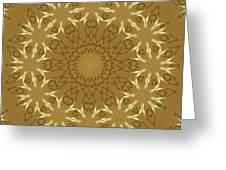 Pretty Golden Flowers Greeting Card