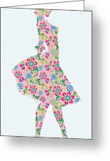 Pretty In Pink Flower Girl Greeting Card
