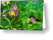 Pretty Little Weeds Photoart Greeting Card