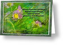 Pretty Little Weeds With Photoart And Verse Greeting Card