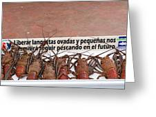 Pretty Lobsters Greeting Card