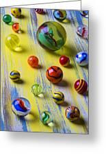 Pretty Marbles Greeting Card