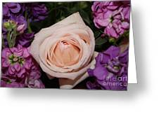 Pretty Pastel Flowers Greeting Card by Danielle Groenen
