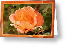 Pretty Peachy Rose Abstract Flower Greeting Card