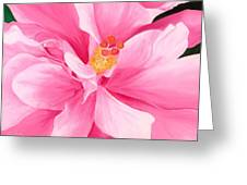 Dancing Hibiscus Painting Greeting Card by Lisa Bentley