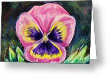 Pretty Pink Pansy Person Greeting Card