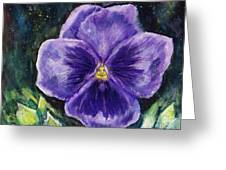 Pretty Purple Pansy Person Greeting Card