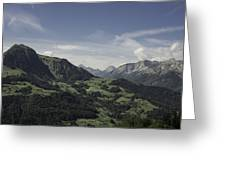 Pretty Sight Of The French Alps Greeting Card