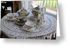 Pretty Tea Set Greeting Card