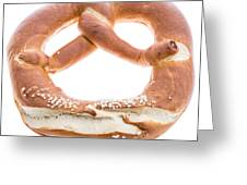 Pretzel Isolated On White Greeting Card