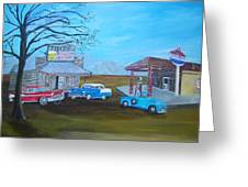 Price's Bar B Que And Grille Greeting Card