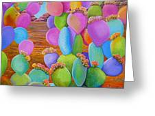 Prickly Pear Cactus-eye Candy Greeting Card