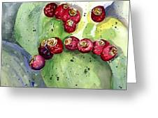 Prickly Pear Fruit Greeting Card