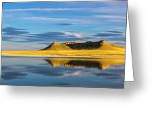 Priest Butte Reflects Into Wetlands Greeting Card