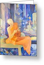 Priest By Genevieve Couteau Greeting Card