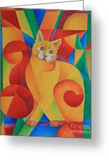 Primary Cat II Greeting Card