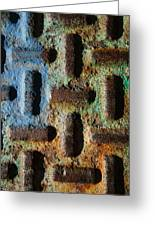 Primary. Secondary..rust... Greeting Card