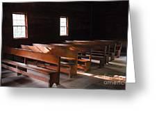 Primitive Church Greeting Card