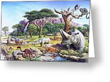 Primitive Mammals Greeting Card