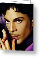 Prince Artwork Greeting Card by Sheraz A