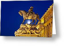 Prince Eugene Of Savoy Statue At Night Greeting Card