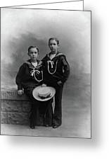 Princes Amedeo And Aimone Greeting Card